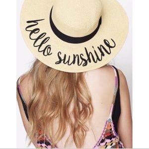 """Hello sunshine"" beach hat"